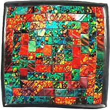 Deko - Schale Glasmosaik eckig 15 cm,