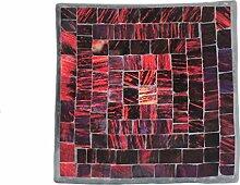 Deko - Schale Glasmosaik eckig 15 cm, rot -