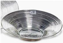 Deko Schale, Schüssel CIRCLE VINYL Glas silber D.