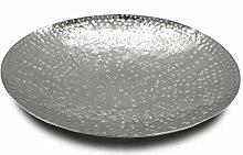 Deko Schale Silber aus Metall Ø 41,5cm