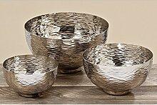 Deko-Schale Ties D20cm silber Aluminium,