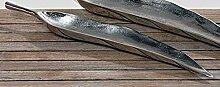 Deko-Schale Tyne Aluminium silber L 59 cm Schale