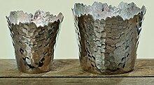Deko Schalen Windlicht Set Angie H7-9cm Aluminium Teelichthalter Geschenkidee