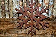 Deko Schneeflocke auf Stab Rost Edelrost Winter