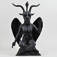 Deko-Skulptur Buddha Baphomet, schwarzer