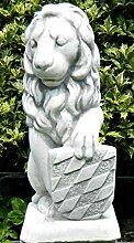 Deko Skulptur Löwe mit Wappen auf linker Seite H