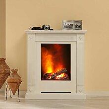 Deko Standkamin mit 3D Feuer Weiß