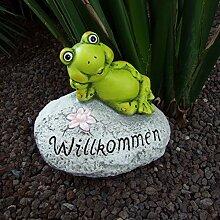 Deko-Stein Willkommen Frosch Schnecke Schildkröte