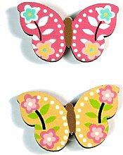 Deko-Sticker aus Holz Schmetterling - 24er Set - 2