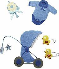 Deko-Sticker: Baby Junge, m. Klebepunkt, SB-Btl