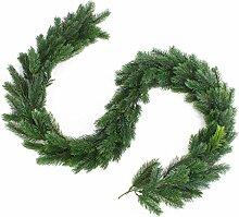 Deko Tannengirlande mit PE-Nadeln, 180 cm - Künstliche Girlande / Weihnachtsdekoration - artplants