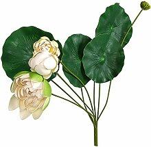 Deko-Teichpflanze Lotus 100cm Sumpfpflanze Kunstblume Gartenteichdeko Seerose