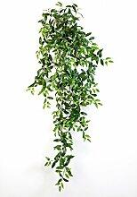 Deko Tradescantia Fluminensis mit 730 Blättern, grün, 125 cm - Kunstpflanze / Künstliche Ranke - artplants