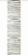Deko Trends Bahama 6237121 90 Schiebevorhang, Stoff, Grau-Taupe, 245 x 60 x cm