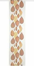 Deko Trends Lilio 6236792 20 Schiebevorhang, Stoff, 245,0 x 60,0 x 245,0 cm, wollweiß / braun / ocker