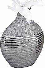Deko Vase 18x25cm Silberstreifen ( Links Abbildung