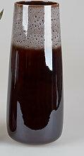 Deko Vase BLACK SNOW konisch H. 43cm schwarz grau