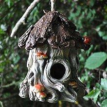 Deko Vogelhaus mit Seil zum Aufhängen