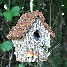 Deko Vogelhaus mit Seil zum Aufhängen Woodland
