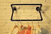 Deko Wandregal Bekleidung Shop Dekoration Props Fenster Display Retro Racks Wasserrohr Display Stand ( Farbe : A )