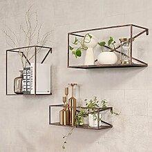 Deko Wandregal Eisen Industrial Style Wandbehang
