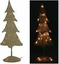 Deko Weihnachtsbaum weiß mit Beleuchtung 80cm