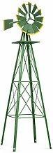 Deko-Windmühle Ellisurg Garten Living Farbe: Grün
