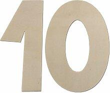 je 4 h/ölzerne Zahlen 4 cm hoch 40 Teile Kleenes Traumhandel Zahlenkasten Holz Natur