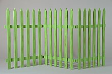 Deko-Zaun Holz-Zaun Jäger-Zaun 3 Zaunelemente a
