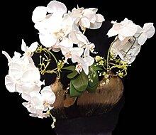 Dekoblume inkl. Vase 'Orchidee' 66x60cm Kupfer