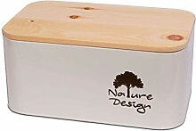 Dekobox Brotbox aus Metall und Zirbenholz -
