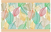 dekodino Bordüre Borte Herbstliches Blattmuster