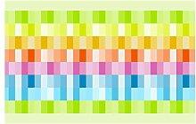 dekodino Bordüre Borte Sommerliche Farbvielfalt