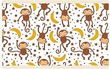 dekodino Kinderzimmer Bordüre Borte Affen Afrika