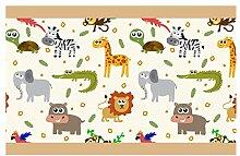 dekodino Kinderzimmer Bordüre Borte Bunte Safari