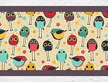 dekodino Kinderzimmer Bordüre Borte Bunte Vögel
