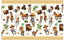 dekodino Kinderzimmer Bordüre Borte Cowboys
