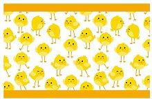 dekodino Kinderzimmer Bordüre Borte Gelbe Küken