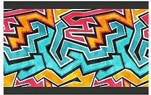 dekodino Kinderzimmer Bordüre Borte Graffiti