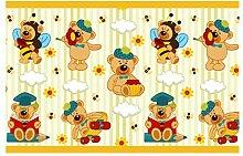 dekodino Kinderzimmer Bordüre Borte Teddybär