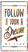 dekodino® Wandtattoo Follow you dream - be free