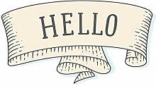 dekodino® Wandtattoo Hello Banner Wandsticker