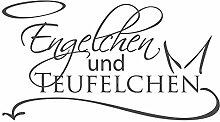 dekodino Wandtattoo Schlafzimmer Spruch Engelchen