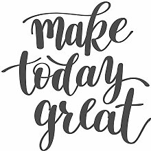 dekodino® Wandtattoo Spruch Motivation Make today