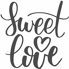 dekodino® Wandtattoo Spruch Sweet love