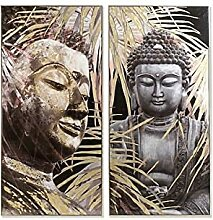Dekodonia S3007232 Bild Buddha Leinwand, schwarz,
