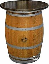 Dekofass, Stehtisch aus echtem Weinfass,