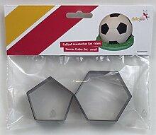 dekofee Fussball Ausstecher Set - klein 15 cm