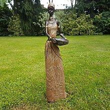 Dekofigur Afrikanische Frau Skulptur Zulu Massai