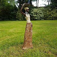 Dekofigur Afrikanische Frau Skulptur Zulu Massai Afrika Dekoration Serengeti